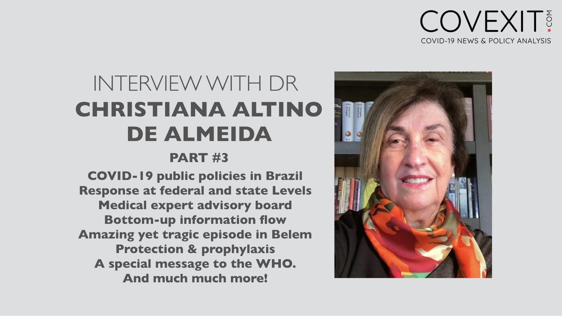 Interview with Dr Altino de Almeida – Part 3