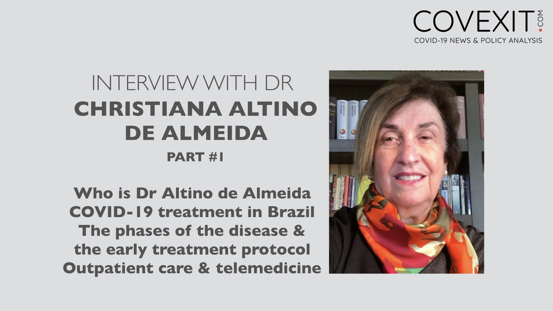 Interview with Dr Altino de Almeida, from Recife, Brazil