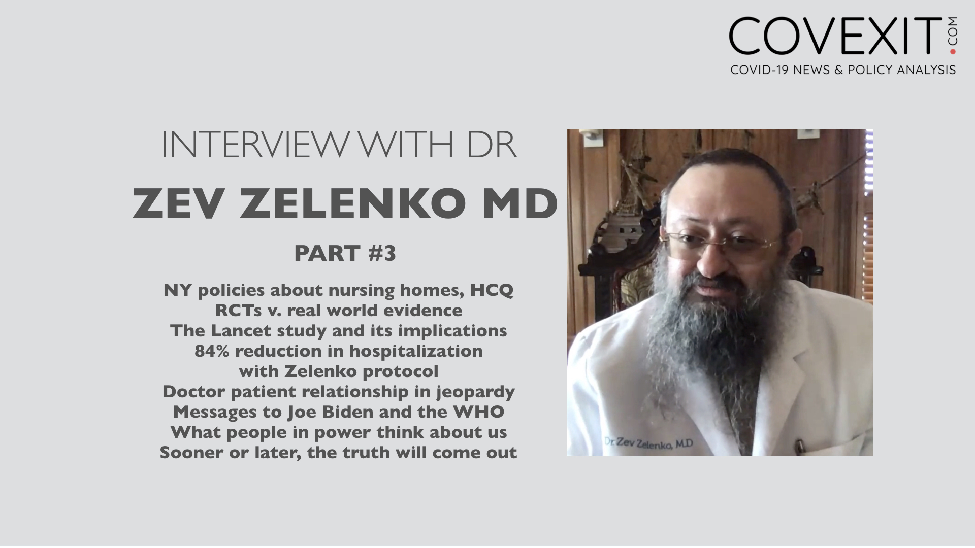Dr Zelenko Interview - Part 3