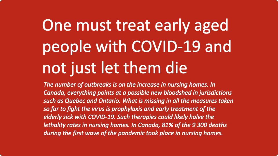 One must treat early aged people with COVID-19 and not just let them die