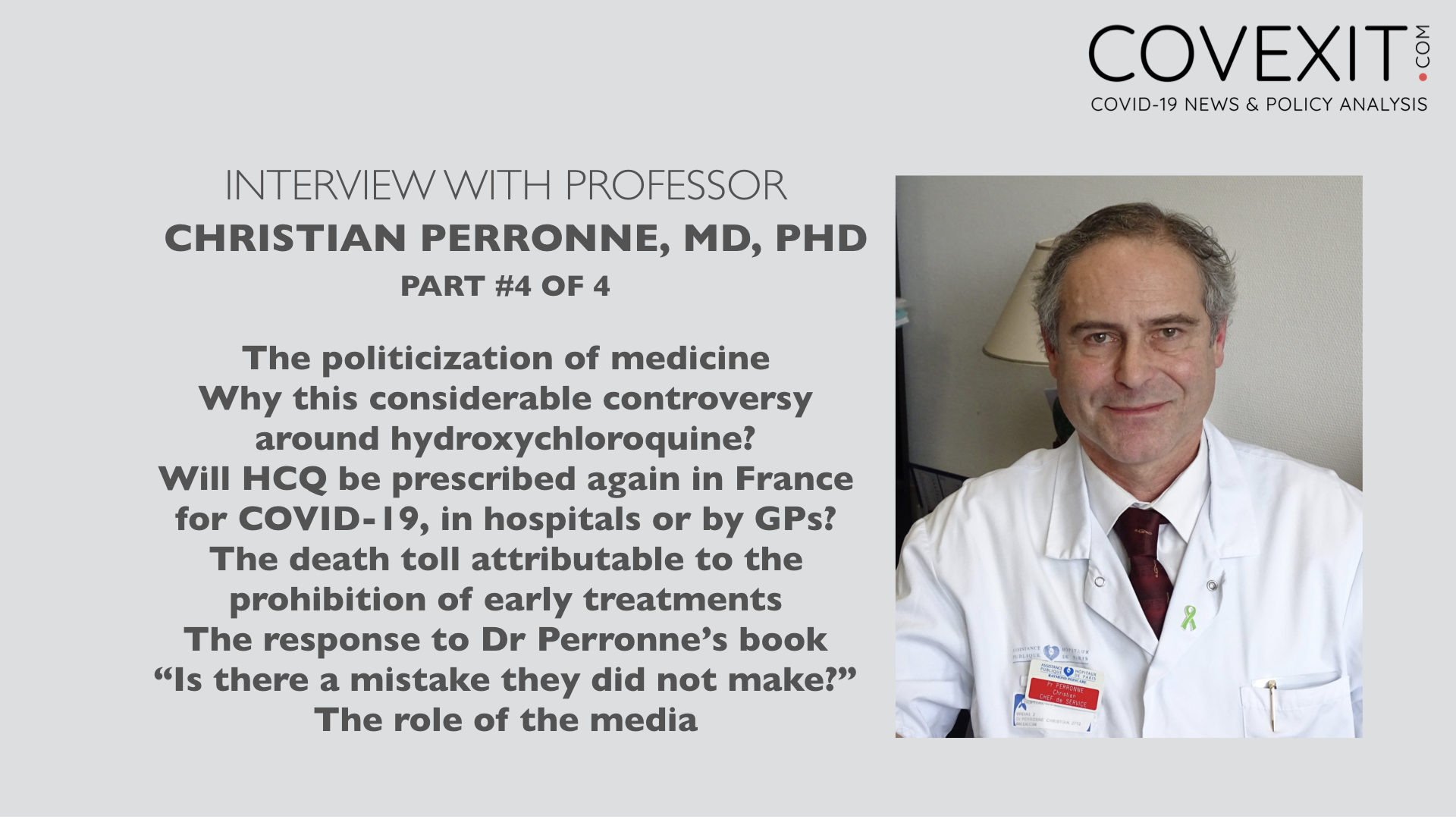 Professor Christian Perronne Interview - Part 4