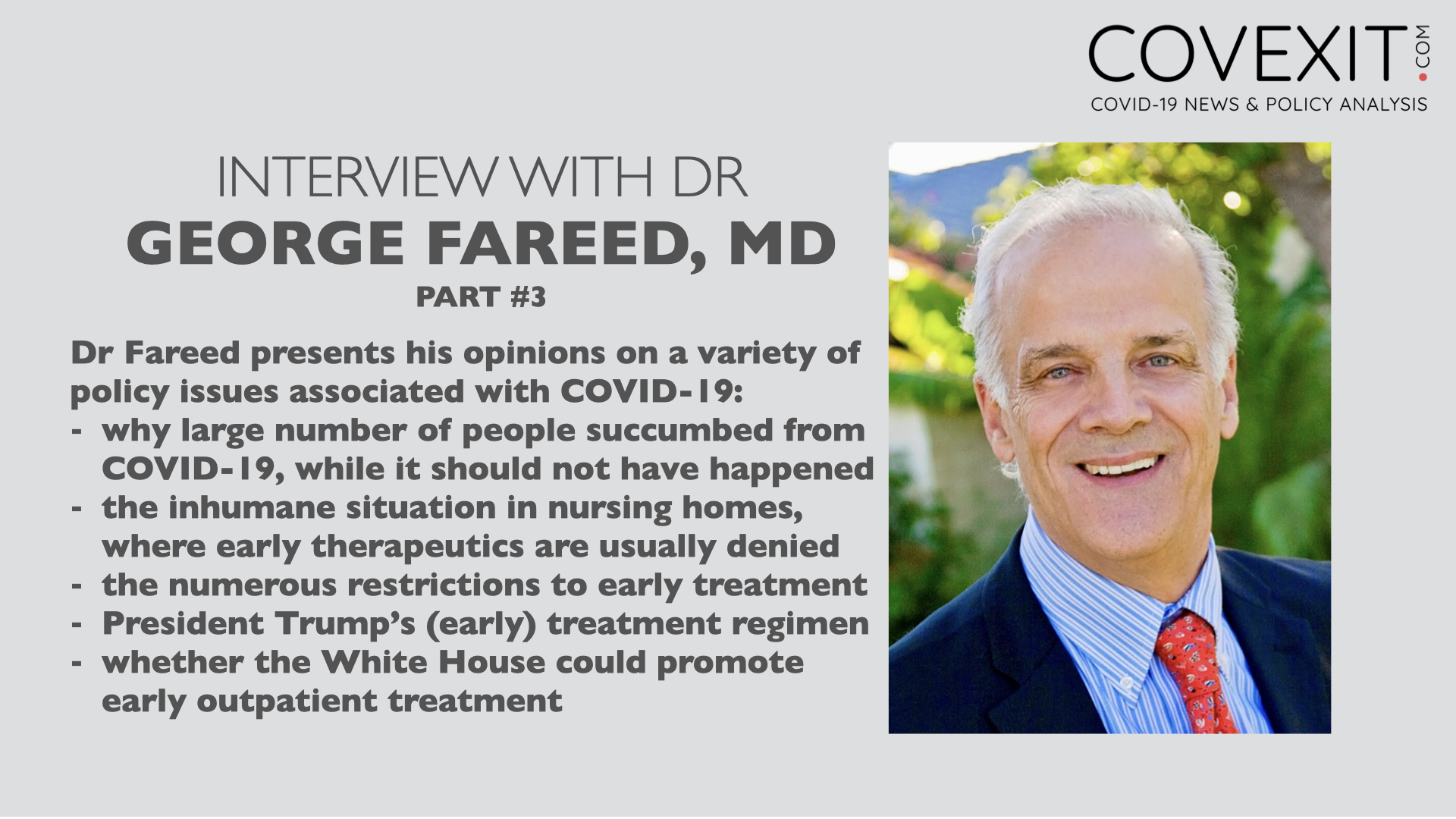 Dr George Fareed Interview - Part 3