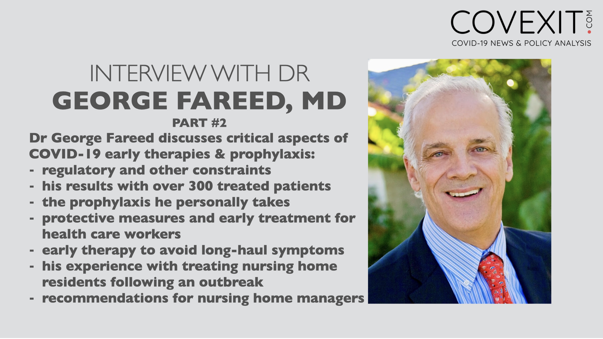 Dr George Fareed Interview - Part 2