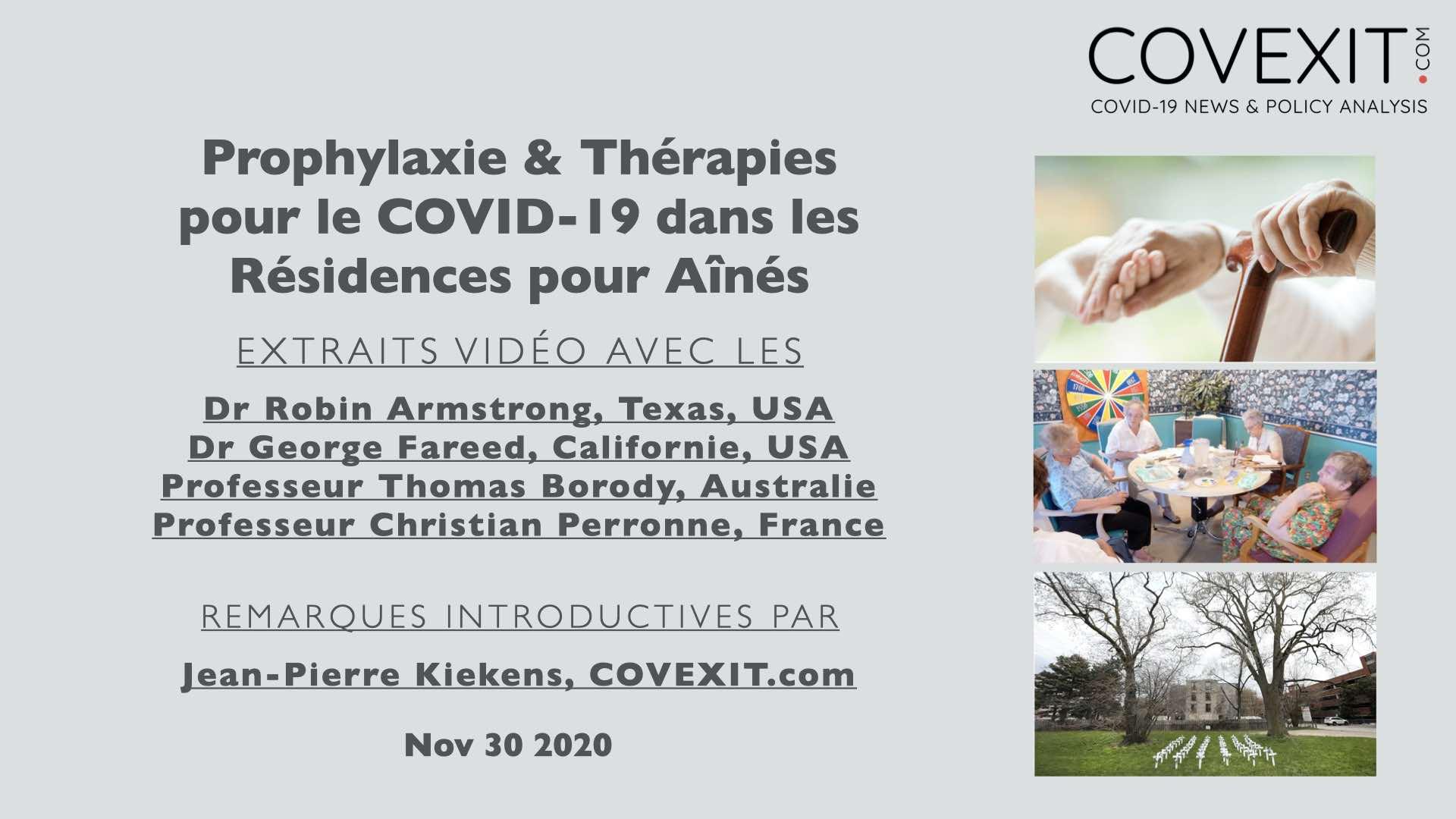 Prophylaxie et traitement du COVID-19 dans les résidences pour personnes âgées