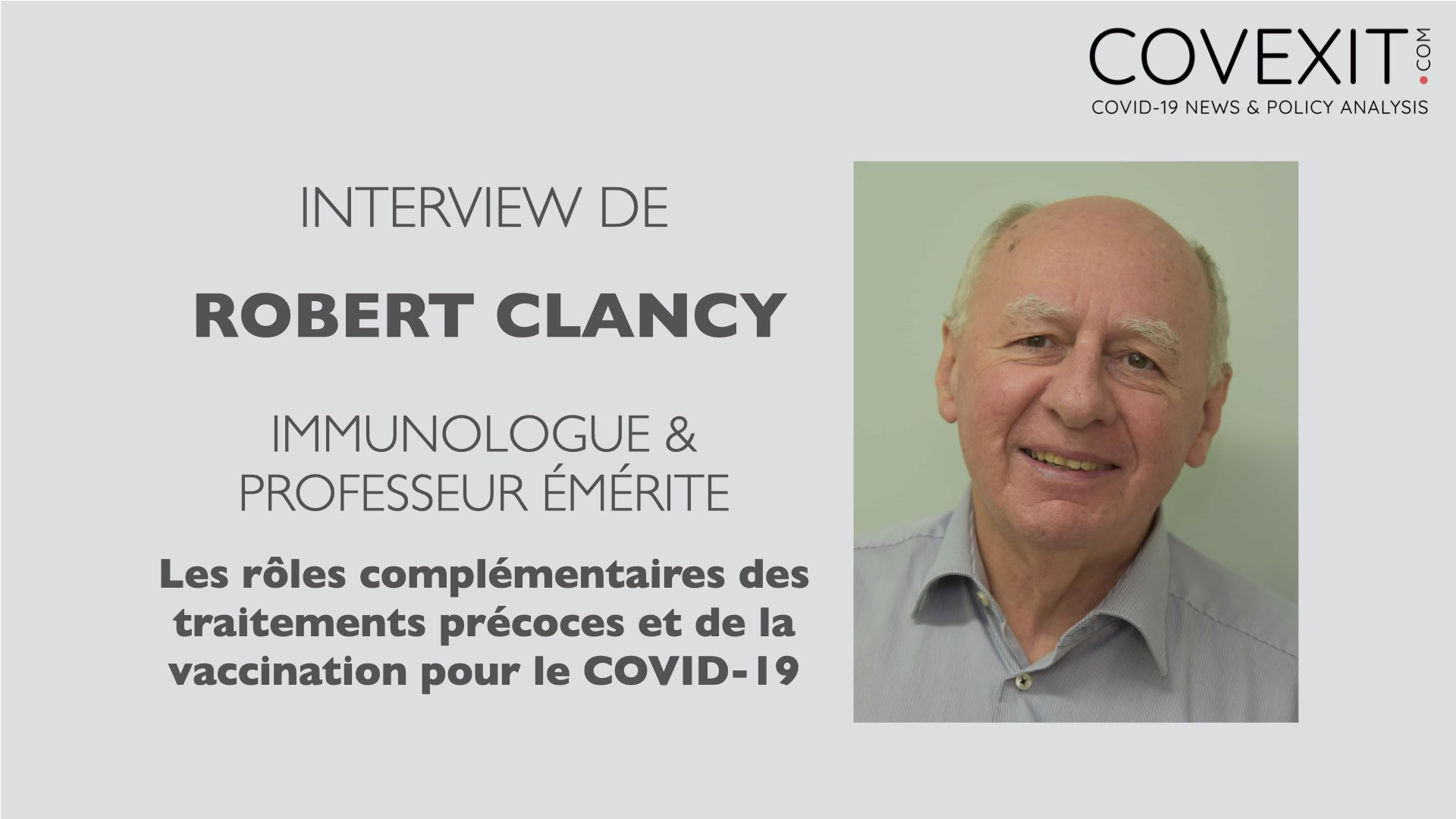 L'Interview du Professeur Robert Clancy