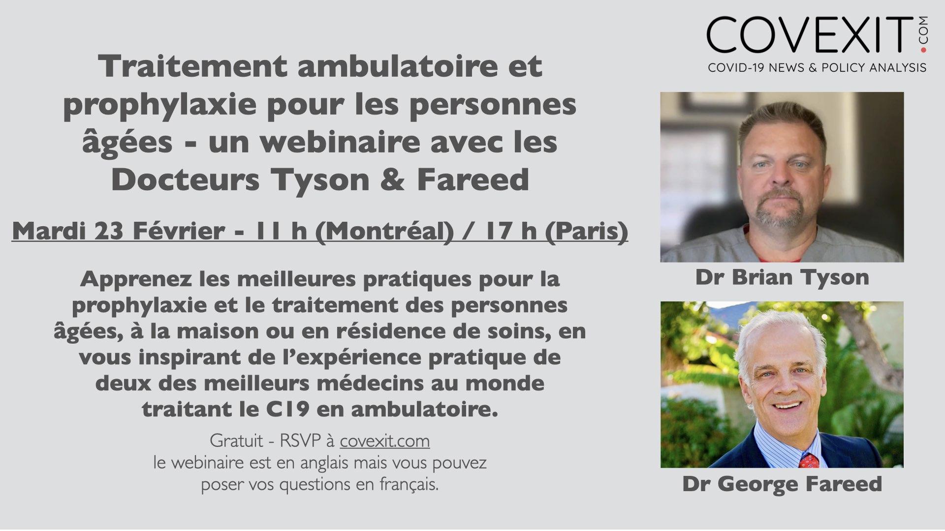 Traitement ambulatoire et prophylaxie pour les personnes âgées - un webinaire avec les Docteurs Tyson & Fareed