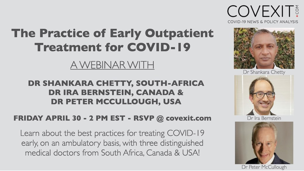 Early Outpatient Treatment in Practice: a Webinar with Drs Chetty, Bernstein & McCullough