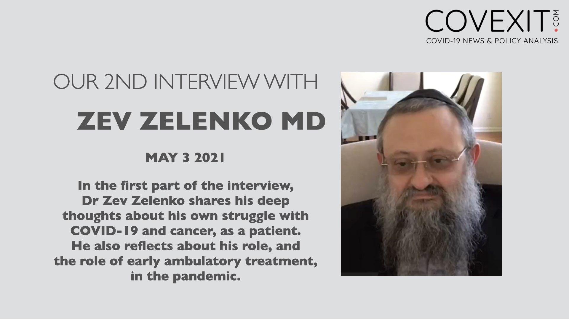 An Interview with Dr Vladimir Zelenko, MD