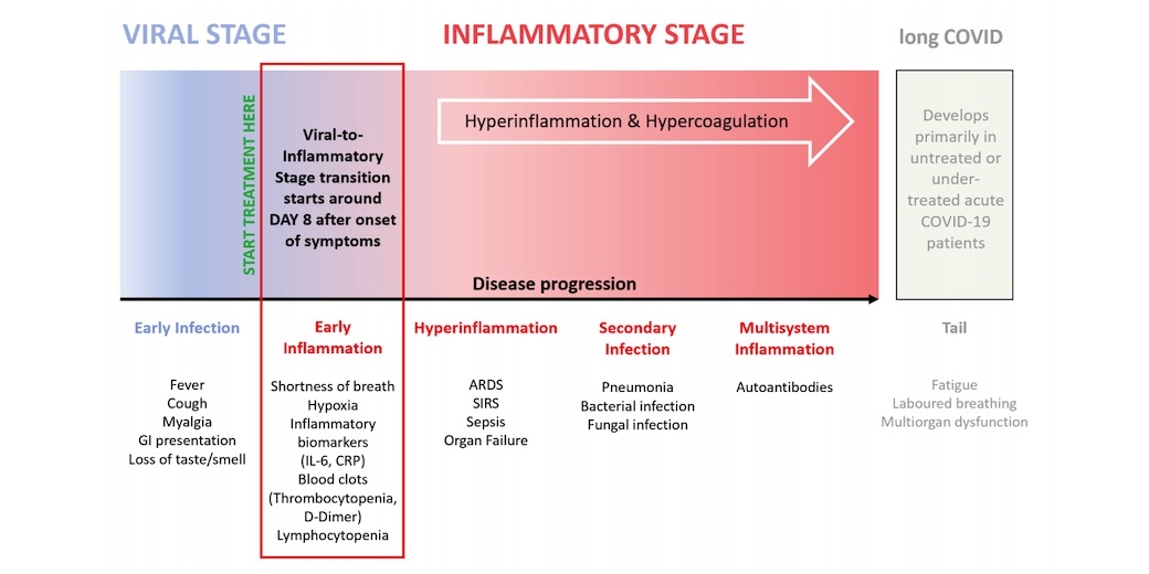 Early Treatment of the Inflammatory Stage of COVID-19 and its Rationale
