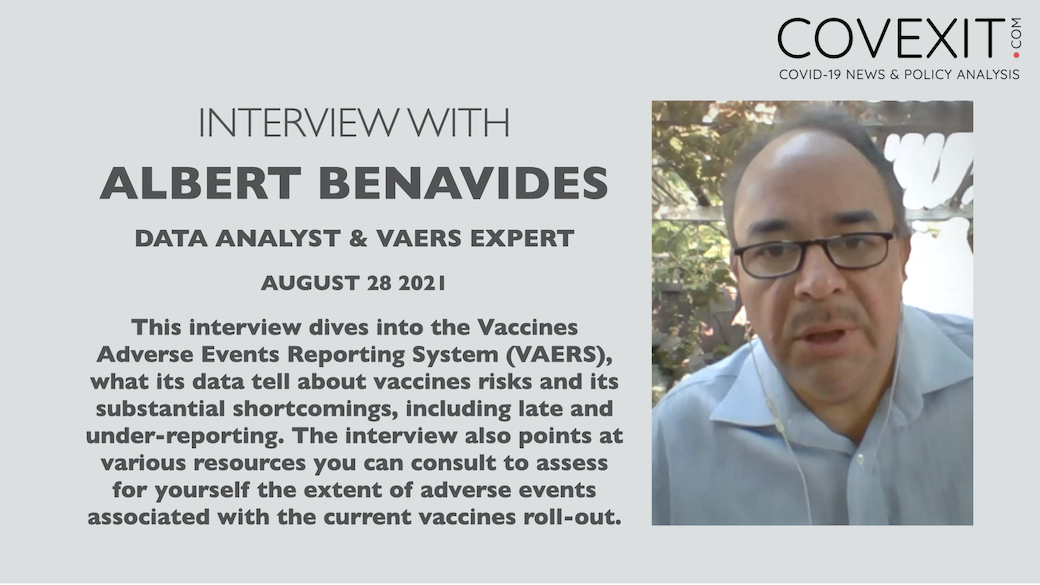 A Dive into the VAERS Reporting System with Albert Benavides