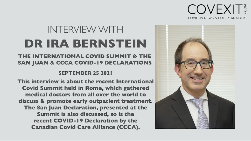 Canadian Dr. Ira Bernstein Talks about the Recent Rome Summit & the Related San Juan & CCCA Declarations