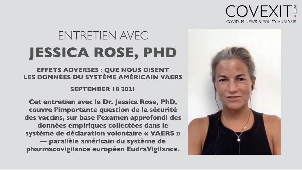 Effets adverses : que nous disent les données du système américain VAERS - un entretien avec Jessica Rose, PhD